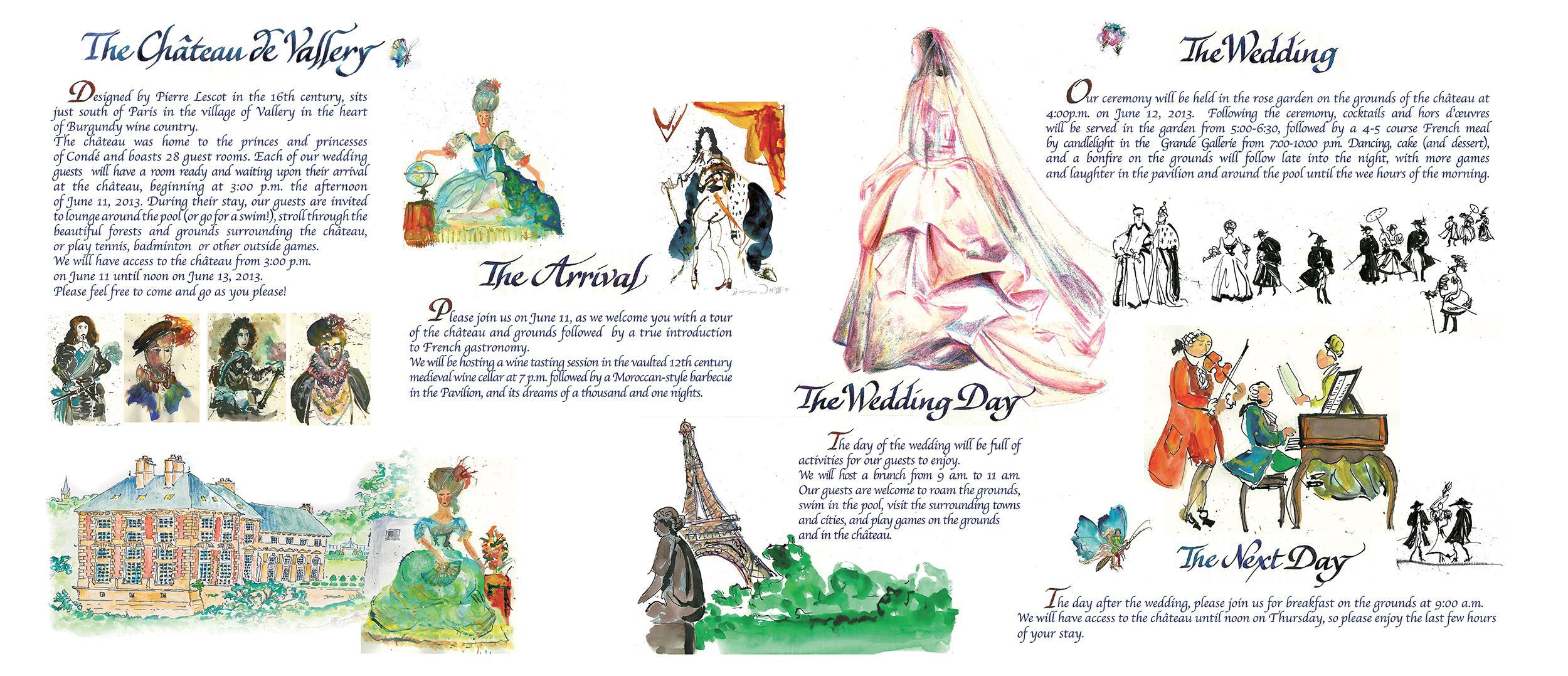 Faire-part de mariage au château par Jean-Jacques Grand calligraphe